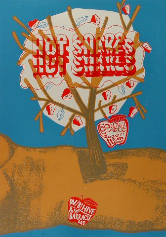 "Hot Snakes Poster from Lee's Palace on 20 Aug 02: 16 3/4"" x 23 7/8"""