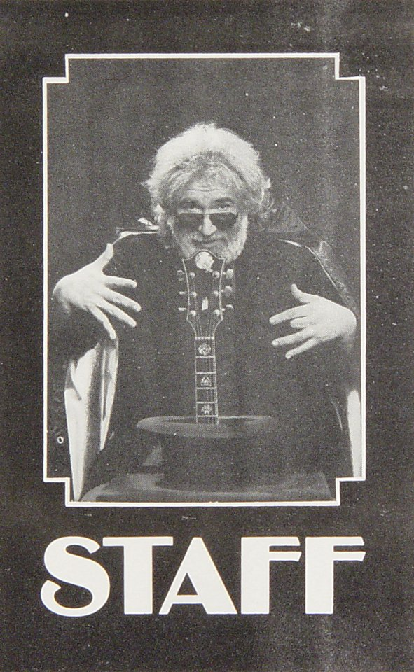 Jerry Garcia Laminate from Lunt-Fontanne Theatre on 15 Oct 87: Laminate Proof 1