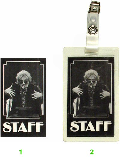 Jerry Garcia Laminate from Lunt-Fontanne Theatre on 15 Oct 87: Laminate 1