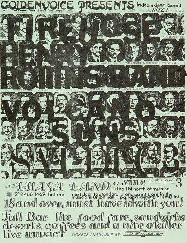 """fIREHOSE Handbill from Lhasa Land on 03 Dec 83: 8 1/2"""" x 11"""""""