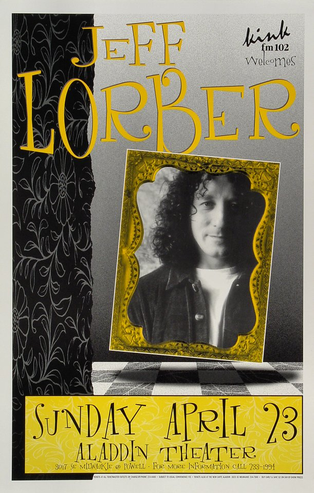 """Jeff Lorber Poster from Aladdin Theatre on 23 Apr 97: 10 7/8"""" x 16 7/8"""""""