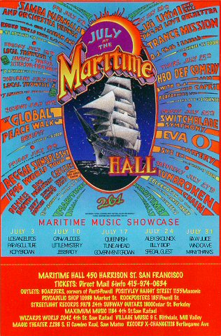 """Samba Mapangala Postcard from Maritime Hall on 05 Jul 96: 4"""" x 6"""""""