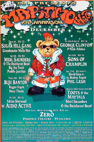 "The Sugarhill Gang Poster from Maritime Hall on 04 Dec 97: 12"" x 18"""