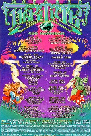 """Sepultura Handbill from Maritime Hall on 02 Oct 98: 4"""" x 6"""""""
