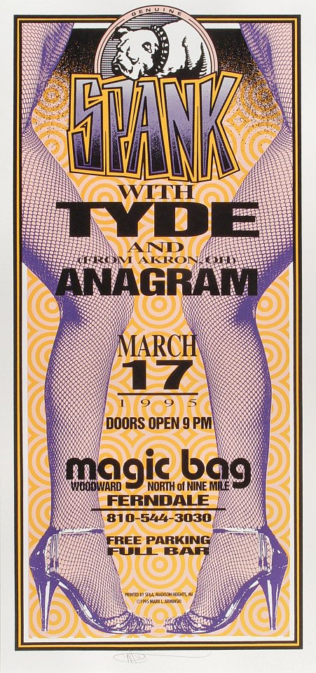 Spank Poster from Magic Bag on 17 Mar 95: 10 1/2