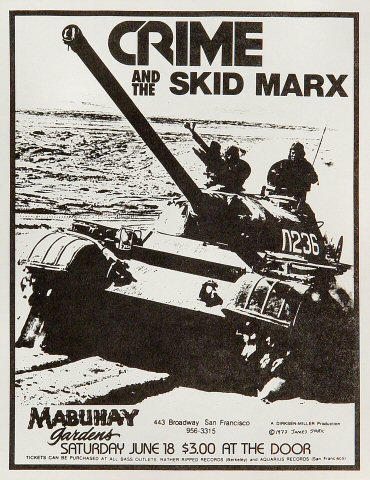 "Crime Handbill from Mabuhay Gardens on 18 Jun 77: 8 1/2"" x 11"""