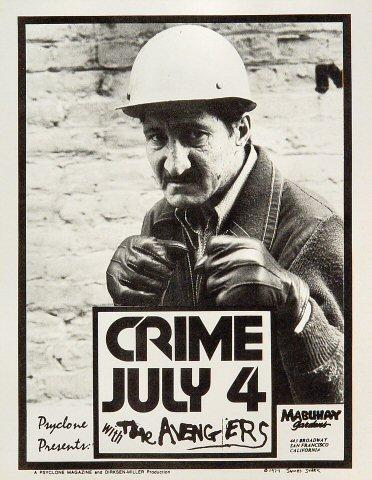 "Crime Handbill from Mabuhay Gardens on 04 Jul 77: 8 1/2"" x 11"""