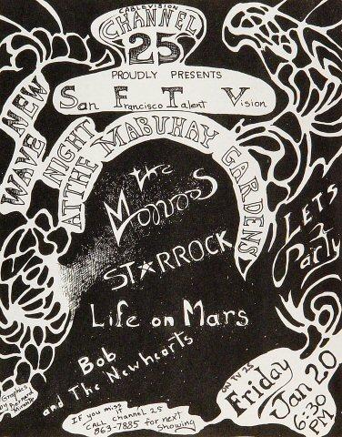 "The Monroes Handbill from Mabuhay Gardens on 20 Jan 84: 8 1/2"" x 11"""