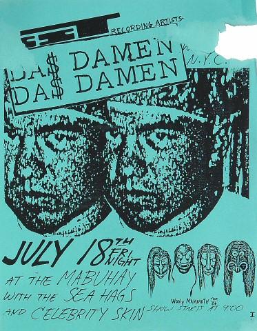 "Das Damen Handbill from Mabuhay Gardens on 18 Jul 86: 8 1/2"" x 11"""