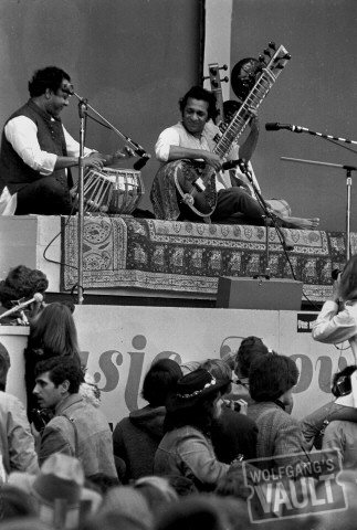 Ravi Shankar Fine Art Print from Monterey Fairgrounds on 16 Jun 67: 11x14 Silver Gelatin Signed