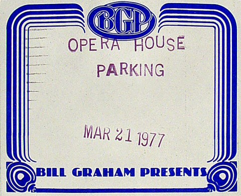 George Benson Backstage Pass from San Francisco War Memorial Opera House on 21 Mar 77: Pass 1