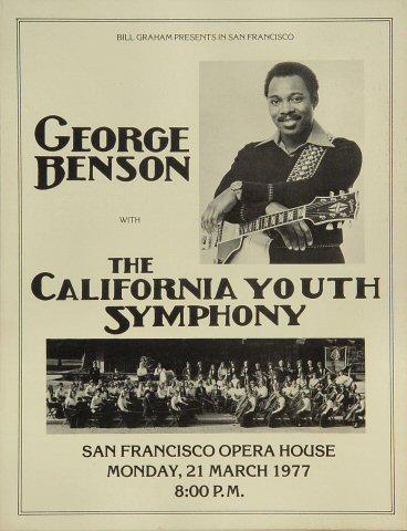 "George Benson Program from San Francisco War Memorial Opera House on 21 Mar 77: 8 1/2"" x 11"""
