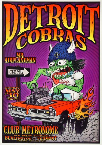 "The Detroit Cobras Poster from Club Metronome on 30 May 04: 12 1/8"" x 17 1/2"""