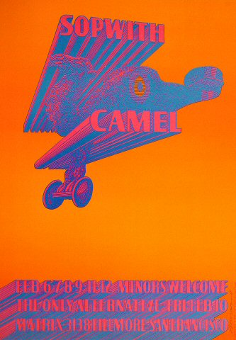 """The Sopwith Camel Poster from Matrix on 06 Feb 67: 14"""" x 20"""""""