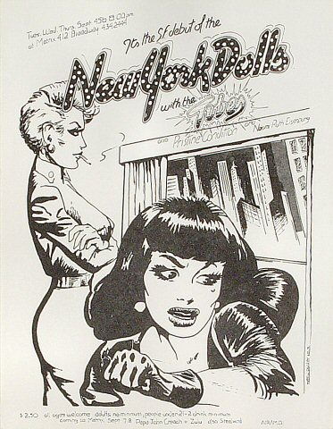 "The New York Dolls Handbill from Matrix on 04 Sep 73: 8 1/2"" x 11"""