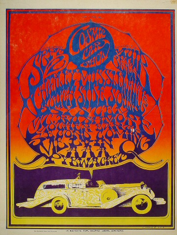 "Charlie Musselwhite Poster from Muir Beach on 02 Sep 67: 17 1/2"" x 23 1/8"""