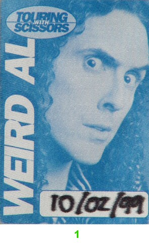 Weird Al Yankovic Backstage Pass from Marin Veterans Memorial Auditorium on 02 Oct 99: Pass 1