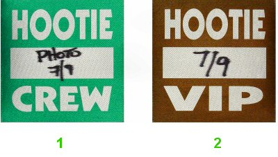 Hootie & the Blowfish Backstage Pass from Meadows Music Theatre on 09 Jul 95: Pass 1