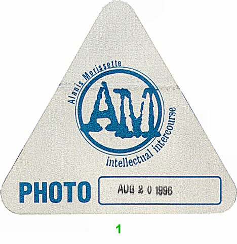 Alanis Morissette Backstage Pass from Meadows Music Theatre on 20 Aug 96: Pass 1