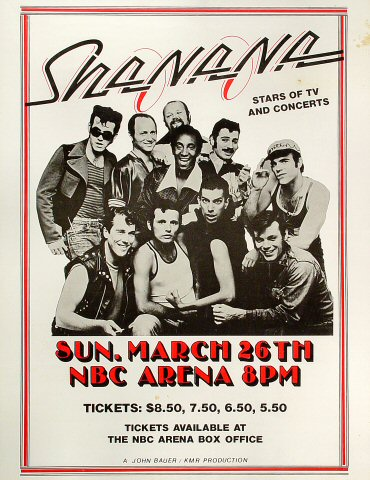 """Sha Na Na Poster from NBC Arena on 26 Mar 78: 17"""" x 22"""""""