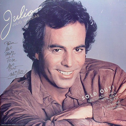 "Julio Iglesias Poster from NBC Concert Hall on 13 Apr 83: 23 7/8"" x 24"""