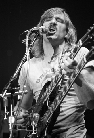 Joe Walsh Fine Art Print from New Haven Veterans Memorial Coliseum on 20 Nov 79: 16x20 Silver Gelatin