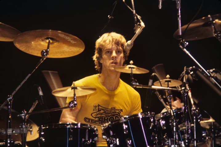 Stewart Copeland Fine Art Print from New Haven Veterans Memorial Coliseum on 23 Jan 82: 16x20 C-Print