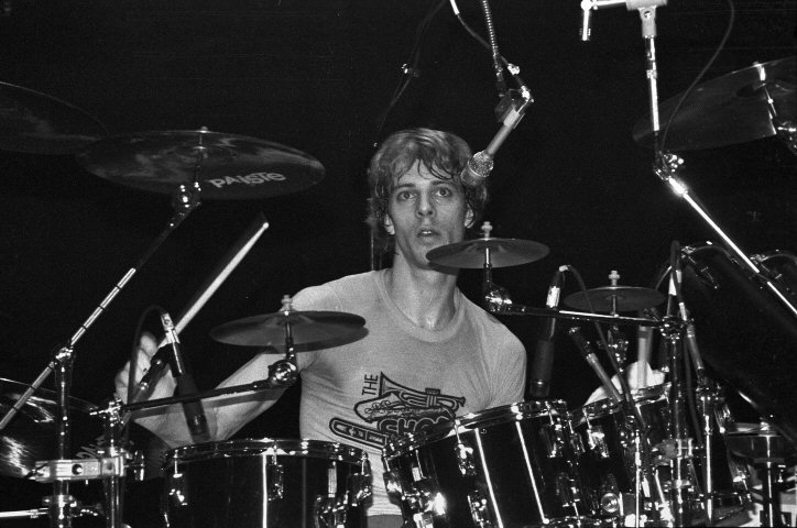 Stewart Copeland Fine Art Print from New Haven Veterans Memorial Coliseum on 23 Jan 82: 16x20 Silver Gelatin