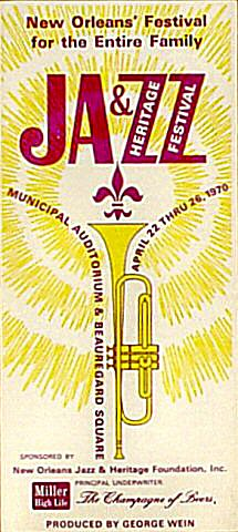 "Pete Fountain Program from Municipal Auditorium New Orleans on 22 Apr 70: 4"" x 9"""