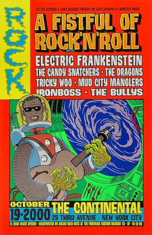 """Electric Frankenstein Poster from Continental New York on 19 Oct 00: 14 15/16"""" x 22 15/16"""""""