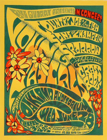 "The Young Rascals Handbill from Oakland Auditorium on 28 Jun 67: 8 1/2"" x 11"""
