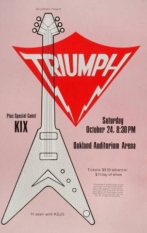 "Triumph Poster from Oakland Auditorium on 24 Oct 81: 11"" x 17"""