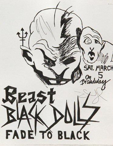 "Beast Handbill from On Broadway on 05 Mar 83: 8 1/2"" x 11"""