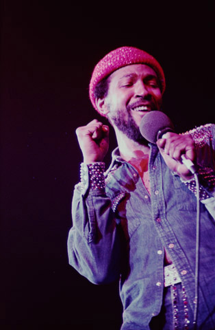 Marvin Gaye Fine Art Print from Oakland Coliseum Arena on 03 Jan 74: 11x14 C-Print Matted & Signed