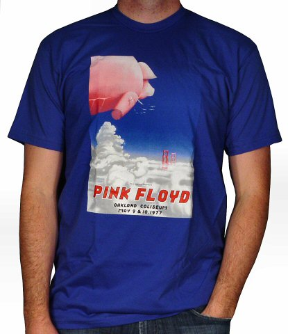 Pink Floyd Men's Retro T-Shirt from Oakland Coliseum Arena on 09 May 77: Large