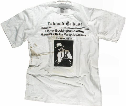 Lindsey Buckingham Men's Vintage T-Shirt from Oakland Coliseum Arena on 03 Oct 82: Medium