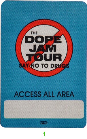 Kool Moe Dee Backstage Pass from Oakland Coliseum Arena on 23 Jul 88: Pass 1