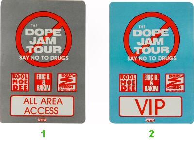 Kool Moe Dee Laminate from Oakland Coliseum Arena on 23 Jul 88: Laminate 2