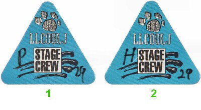 LL Cool J Backstage Pass from Oakland Coliseum Arena on 29 Jul 89: Pass 2