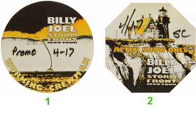 Billy Joel Backstage Pass from Oakland Coliseum Arena on 17 Apr 90: Pass 1