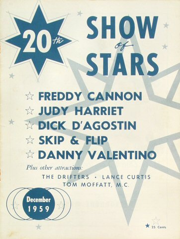 "Freddy Cannon Program from Old Civic Auditorium on 01 Jan 60: 8"" x 10 5/8"""