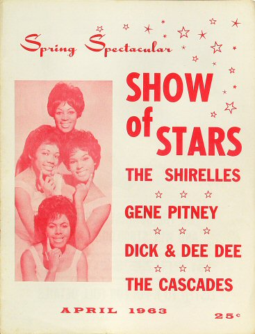 "The Shirelles Program from Old Civic Auditorium on 05 Apr 63: 8"" x 10 5/8"""