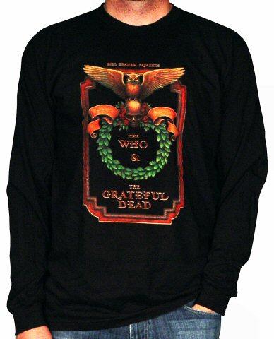 The Who Men's Retro T-Shirt from Oakland Coliseum Stadium on 09 Oct 76: Medium