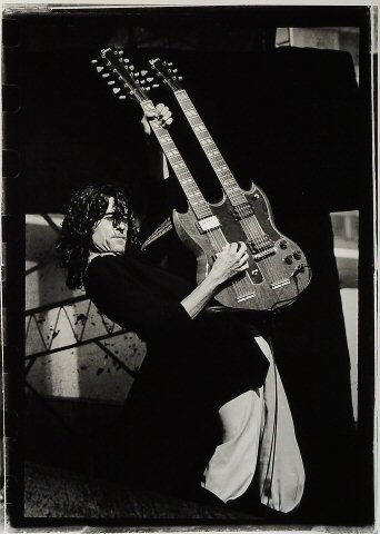 Jimmy Page Fine Art Print from Oakland Coliseum Stadium on 24 Jul 77: 11x14 SG Matted & Signed