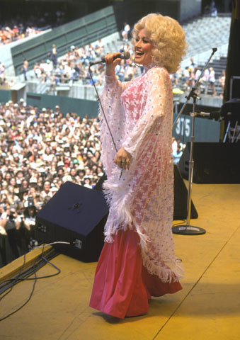 Dolly Parton Fine Art Print from Oakland Coliseum Stadium on 28 May 78: 20x24 C-Print Matted & Signed