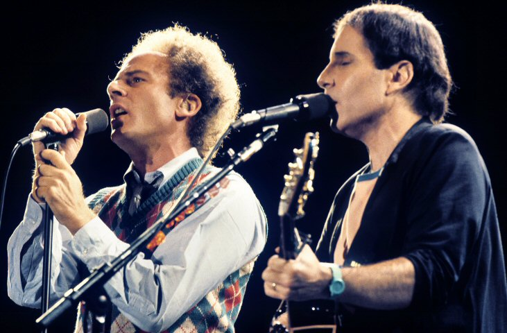 Simon & Garfunkel BG Archives Print from Oakland Coliseum Stadium on 20 Aug 83: 11x14 C-Print