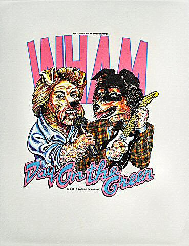 Wham! Pelon from Oakland Coliseum Stadium on 01 Sep 85: Cloth