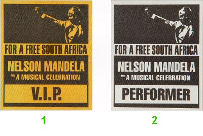Nelson Mandela Backstage Pass from Oakland Coliseum Stadium on 30 Jun 90: Pass 2