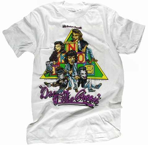 New Kids On The Block Men's Vintage T-Shirt from Oakland Coliseum Stadium on 08 Sep 90: Large
