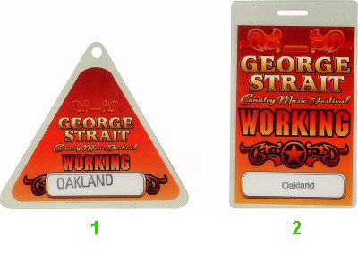 George Strait Laminate from Oakland Coliseum Stadium on 26 Apr 98: Laminate 1